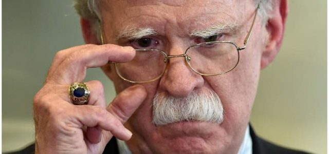 National Security advisor and general psychopath John Bolton resigns; Trump immediately lies about it.